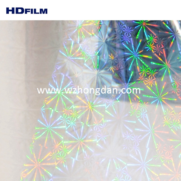 Transparency OPP Laser Holographic Lamination Film For