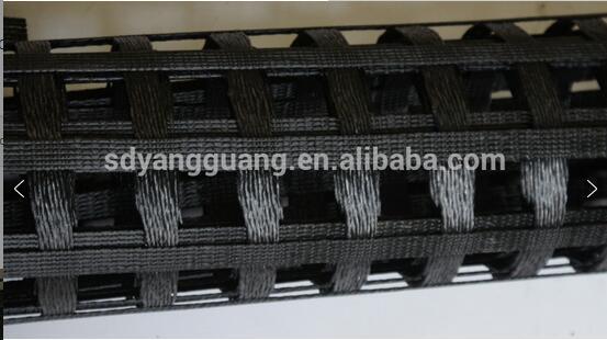 Knitted coated asphalt geogrid high tenacity fiberglass mesh CE approved