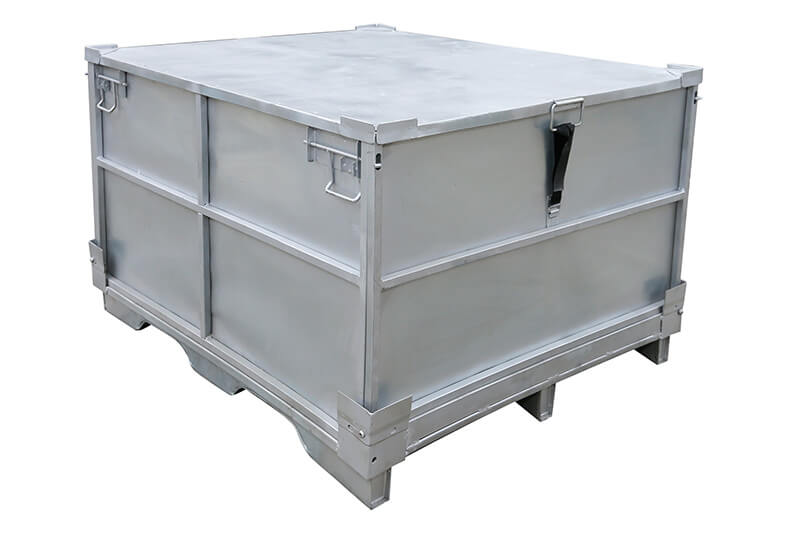 Metal Steel Storage Shipping Box Case Container Pallet