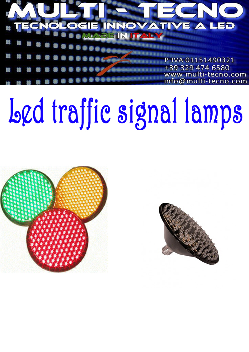 Led traffic signal lamps