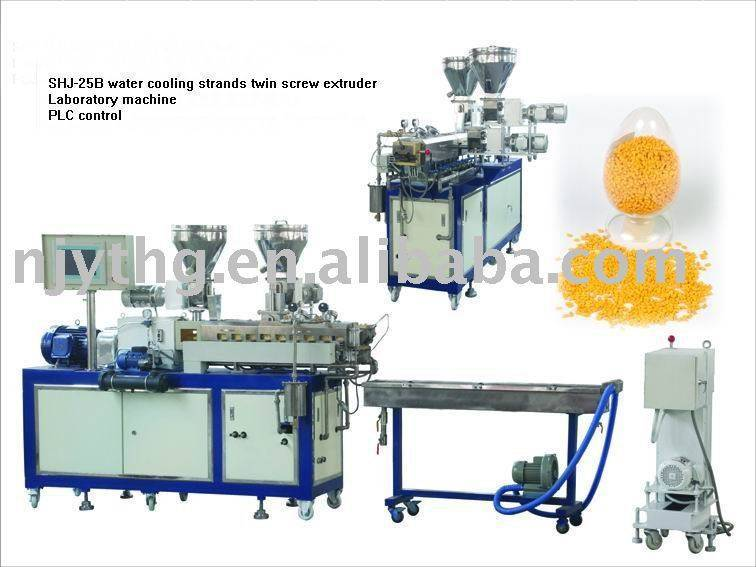 SHJ-25 water cooling strands twin screw extruder
