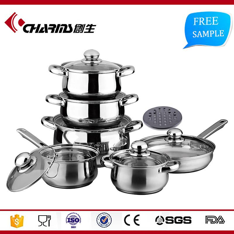 High Quality Palm Restaurant Cookware,Set Kitchen Stainless Steel Cookware