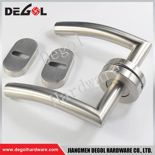 Chinese wholesale stainless steel tube lever jiangmen factory stainless steel door handle