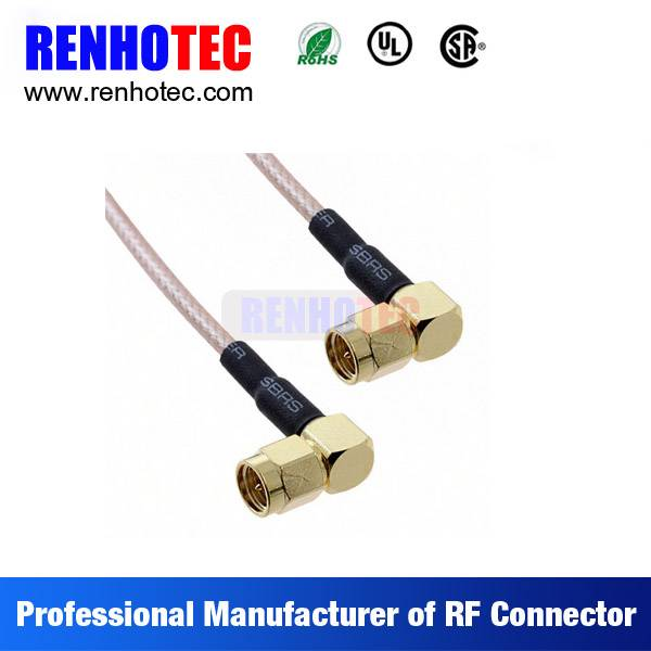 Factory Price Right Angle SMA Male Electrical Coaxial Wire Connectors Custom Cable Assembly