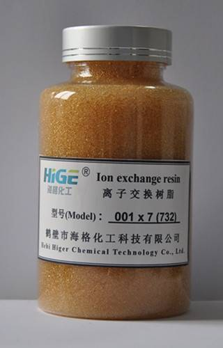 001 x 7 Strongly acidic styrene type cation exchange resin