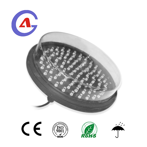 200mm Green led traffic light module with clear lens