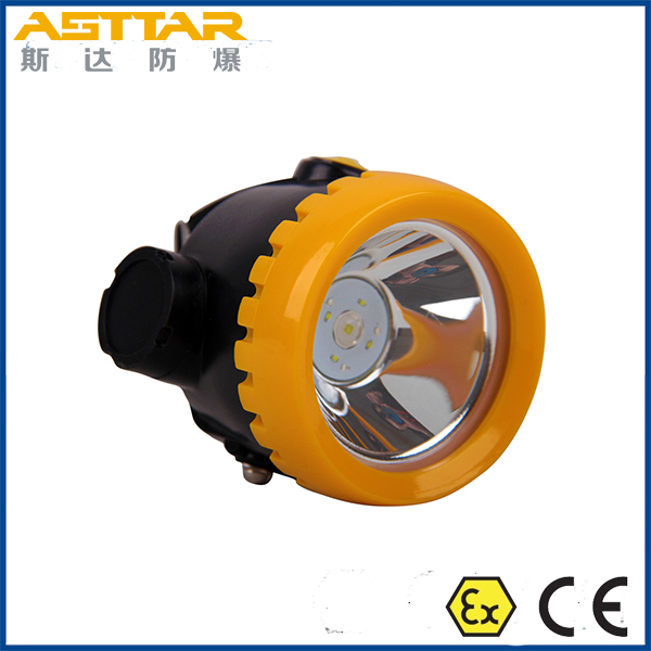 Best quality atex certification mining cap lamp, 11 hour lighting time cordless mining cap lamp