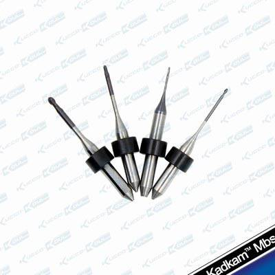 Yenadent dental milling burs CAD/CAM system tools Zirconia/Alloy/PMMA/Wax block end mills