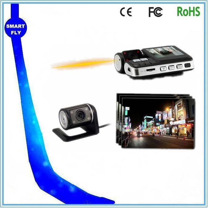 Car cam 2CH reverse camera I1000 motion detection night vision