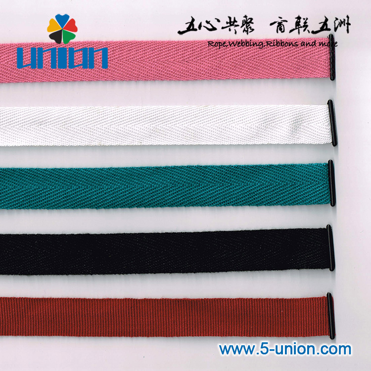 Hot sale herringbone cotton ribbon off white cotton webbing