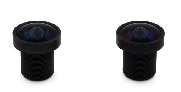 "XS-8121-386-1 M12 lens, megapixel, 1/2.5"", 2.5mm focal length, wide angle 160 degrees"