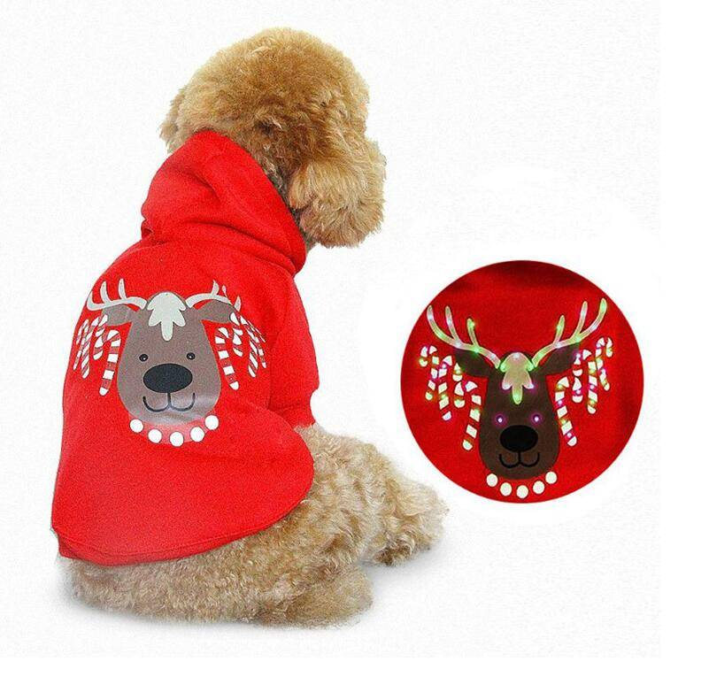 Pet Christmas carnival costume, LED pet clothes