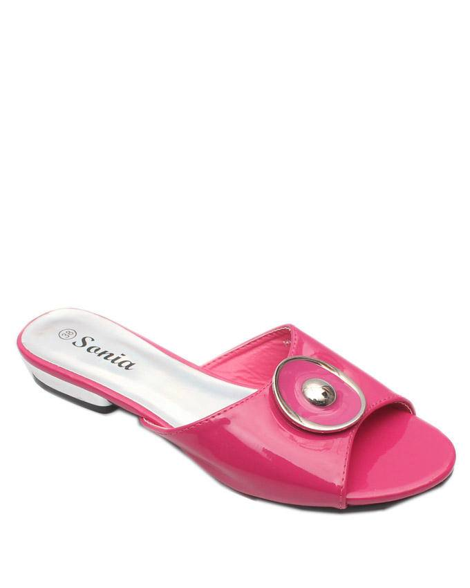 Pink Low Heel Slippers