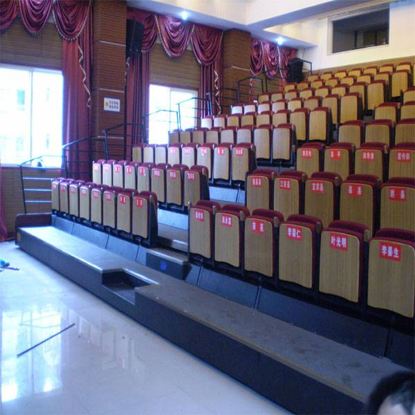 auditorium folding electric retractable bleachers