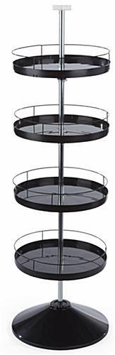 Spinning Tray Display Stand with 4 Round Tiers