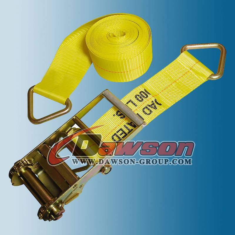 4 inch Ratchet Straps with Delta Rings