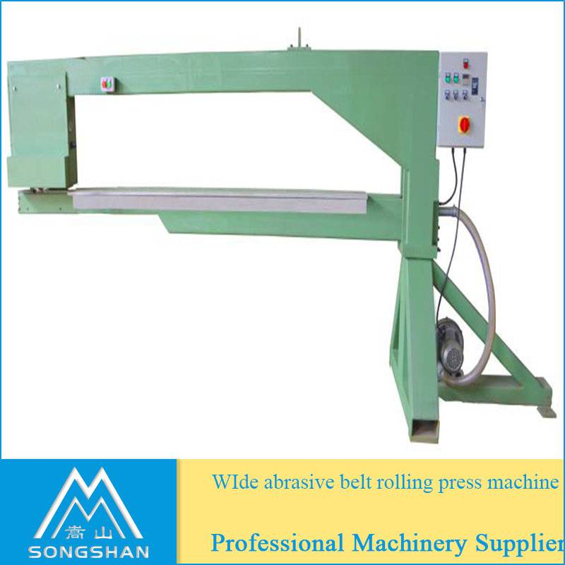wide abrasive belt roller press machine