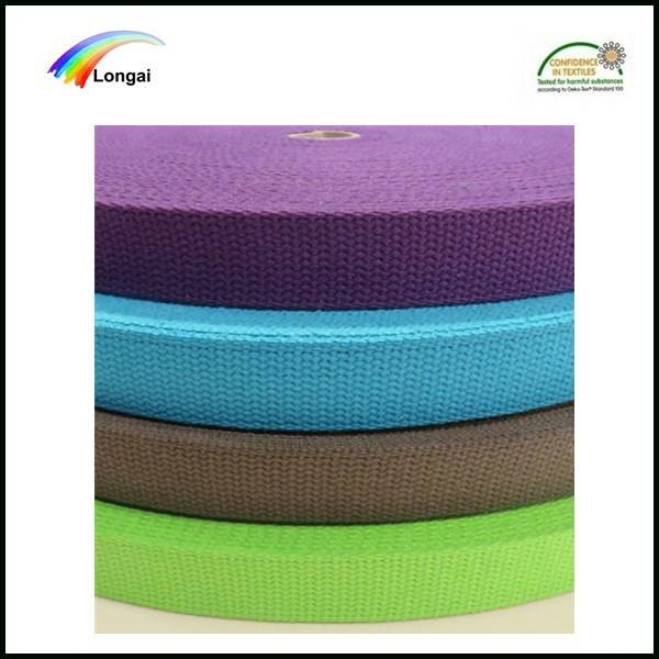 Garment high quality strong polyester weave webbing