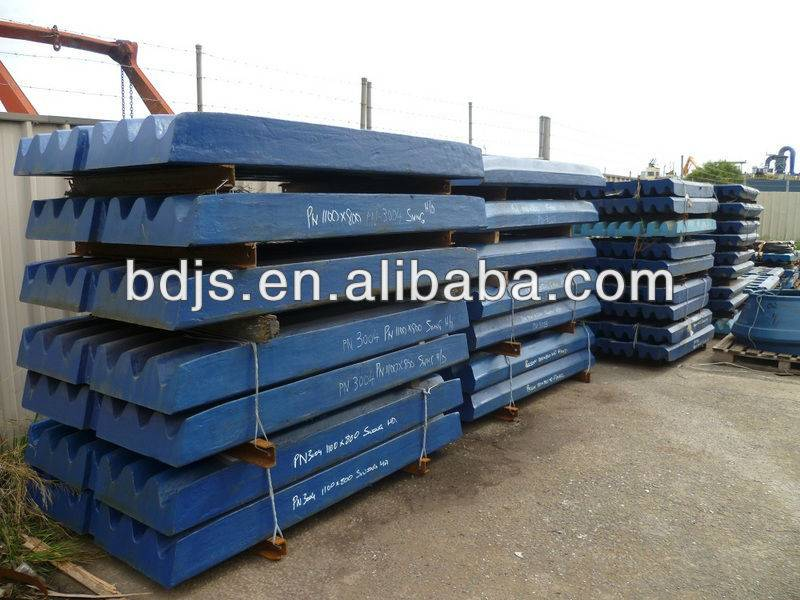 metso jaw crusher wear parts of c63c80c100c125c140  steady jaw plates