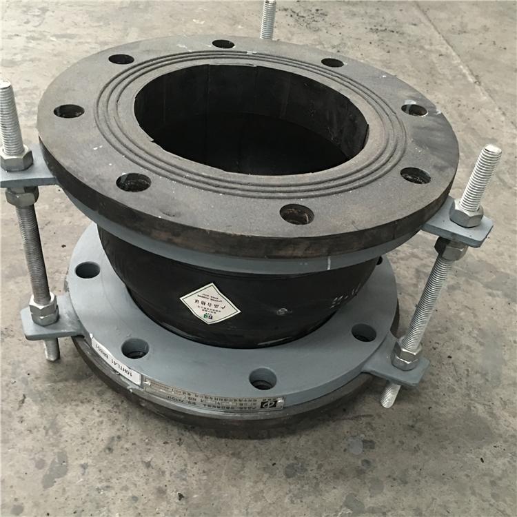 Flange end pipe joints single sphere rubber flexible connectors