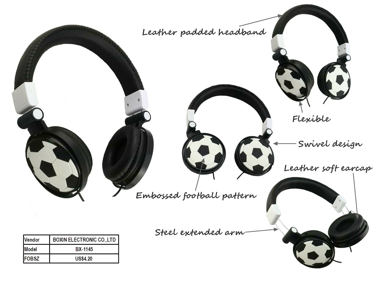 Stereo headphone new Media Microphone