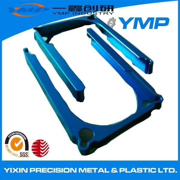 colour anodized cnc machining Aluminium precision machined part