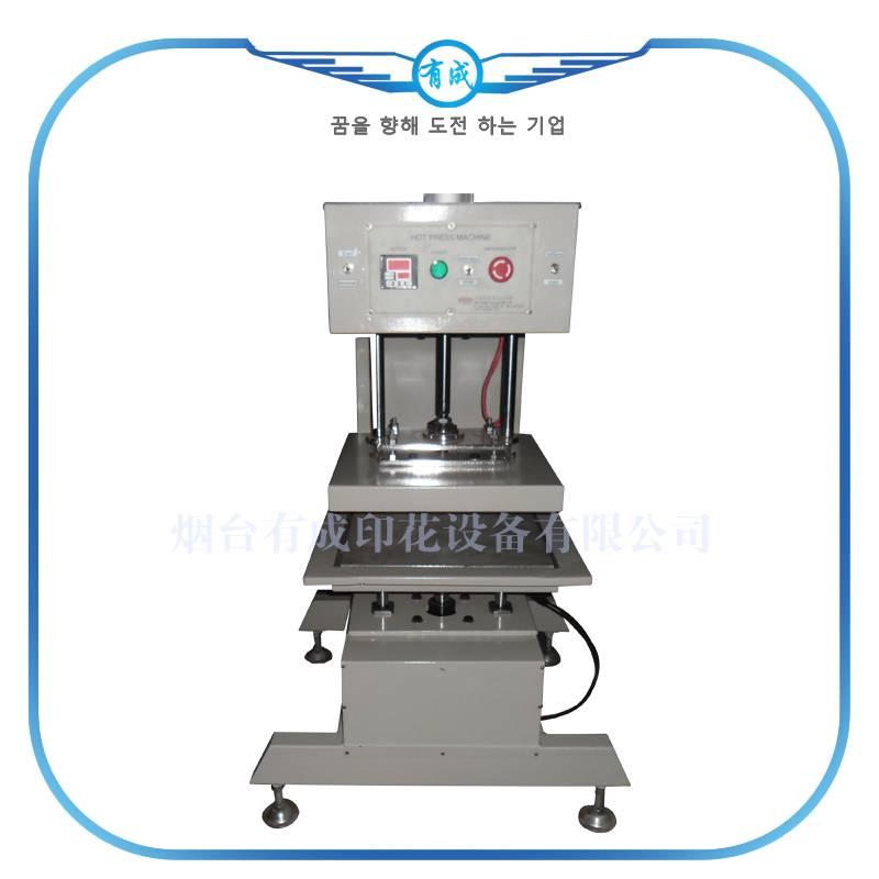 Pneumatic automatic precision double heat press machine