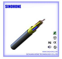SINOHONE 4fiber+2 copper wire optic electric hybrid cable