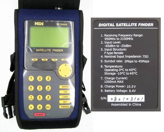 Wholesale Manufacture Digital Satellite Finder Meter Sf3000S