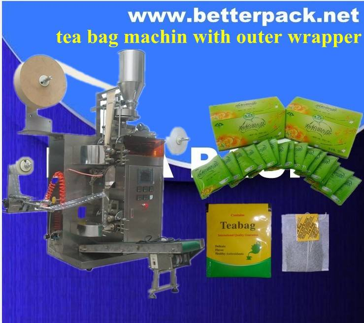 BT-18 Tea bag pack machine for tea bags with outer wrapper