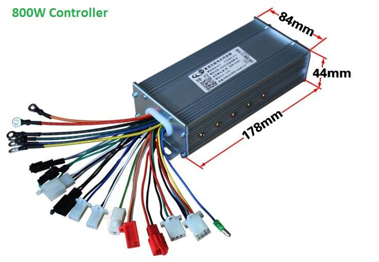 1000W E-Bike Hub Motor Controller 15 POWER MOSFET