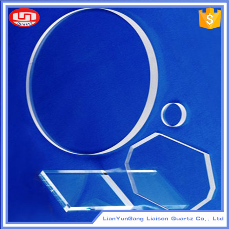 Clear High temperature clear polished quartz glass plate