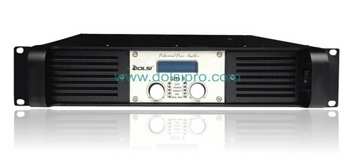 Double Channel 2U Professional Power Amplifier QH II series With Screen Display