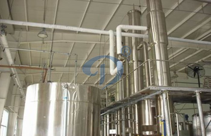 Evaporator during glucose syrup processing plant