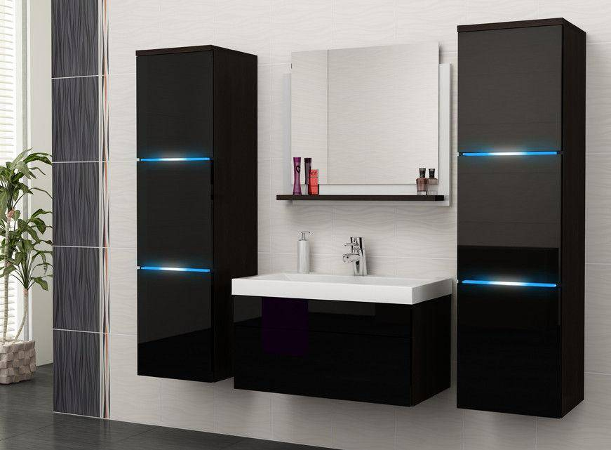 Hot Gloss Lacquer Modern Style Furniture Bathroom Cabinet-P9053