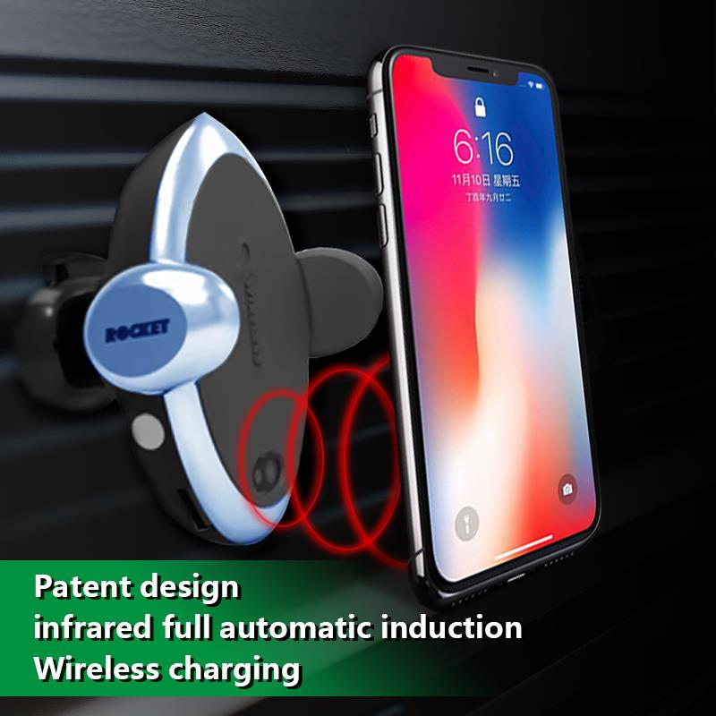 Wireless car charger with air vent car mount holder