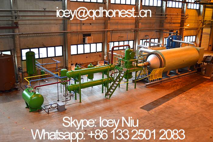 waste rubber/plastic/tyre pyrolysis plant