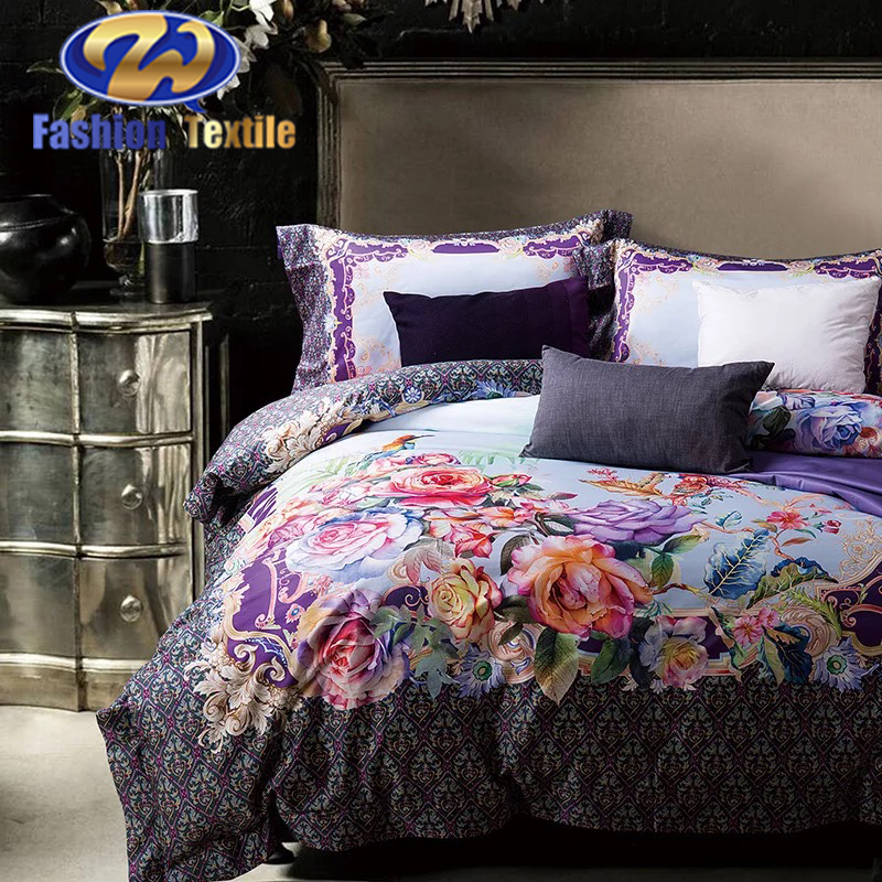 Factory supply bed sheet digital print bedding set on sale