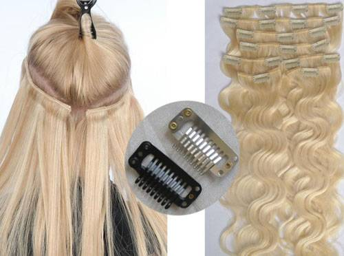 100% Brazilian Remy Human Hair Clips Hair Extension Natural Hair