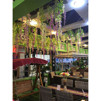 fake wisteria flower for roof decoration