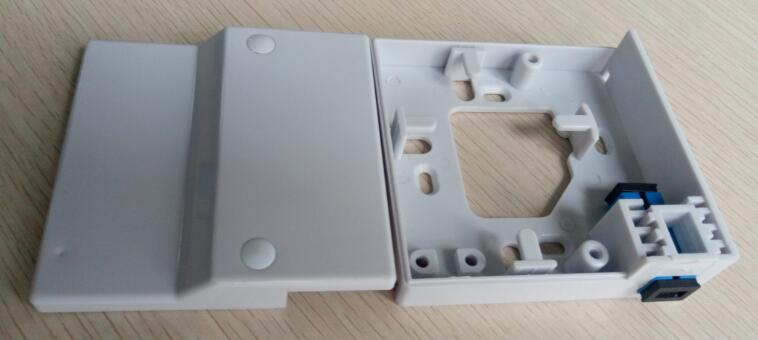 2 ports wall mount fiber optic terminal box