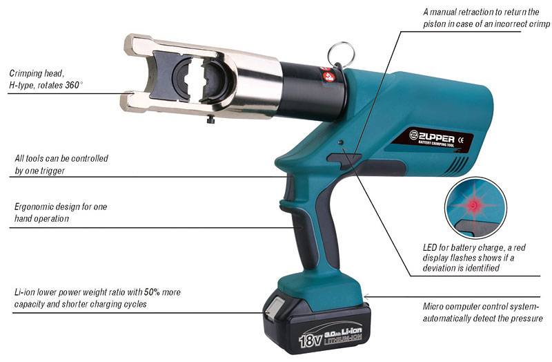 3.	Battery Powered crimping tool 16-400mm2 EZ-400U