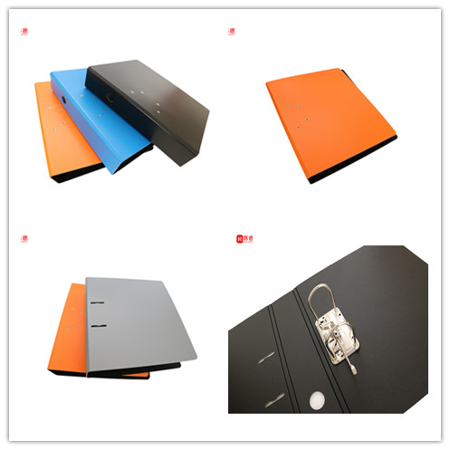 High quality PP foam file folder manufacturer FC box file hard statonery 3 inches level arch file