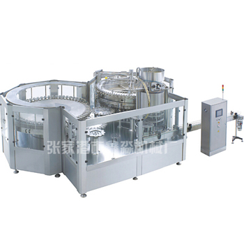 Glass bottle beverage washing filling sealing machine