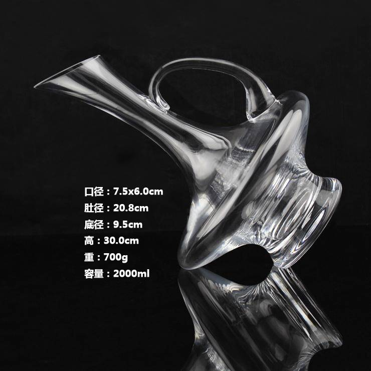 High quality 2000ml Irregular Shaped Glass Whiskey Decanter Aladdin's Lamp Shaped Glass Whiskey Deca