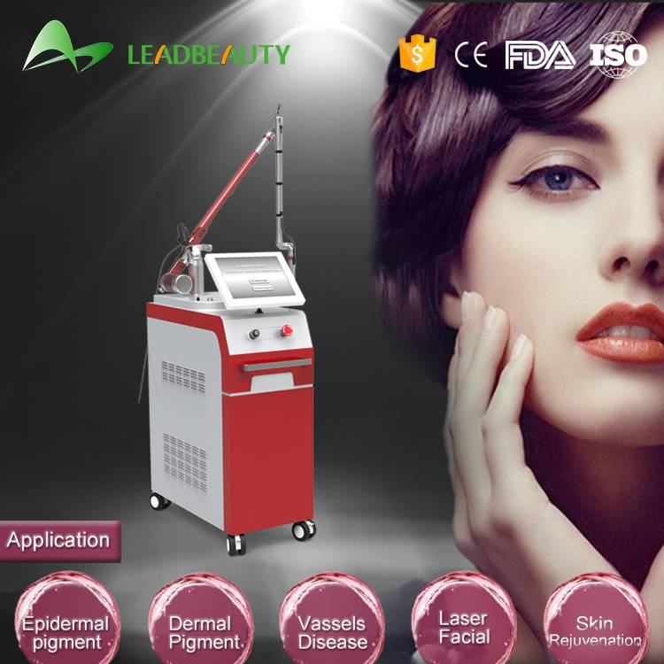 1064 / 532nm Q Switched Nd Yag Laser Tattoo Removal Beauty Salon Equipment
