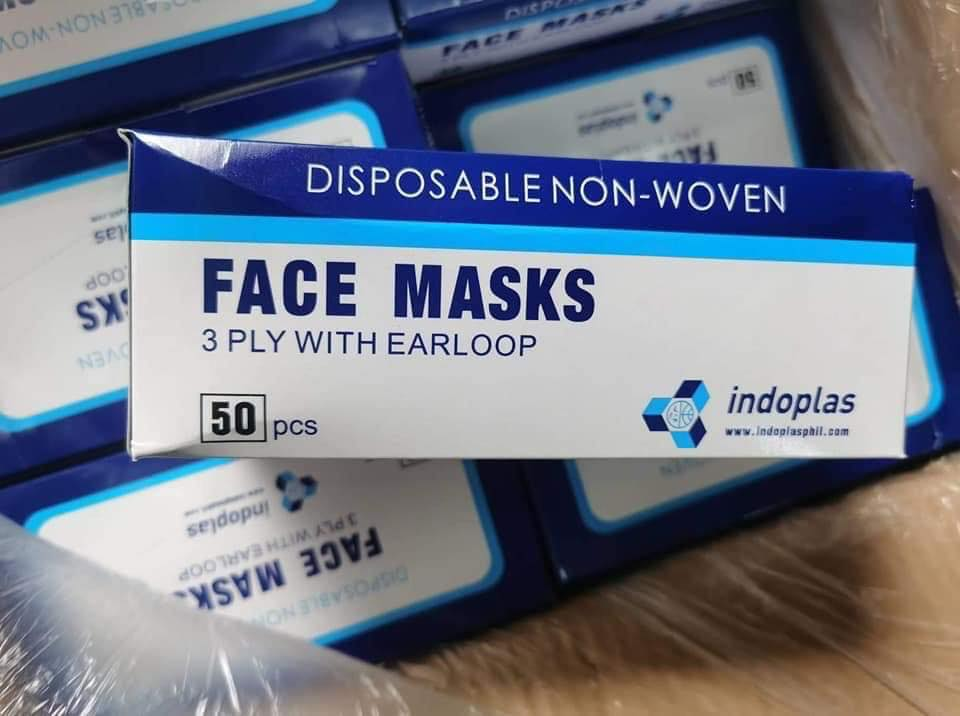 Disposable Face Mask - 3 Ply Medical Masks with Comfortable Earloop