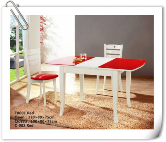 rubber wood Dining Room Furniture (T-8001)