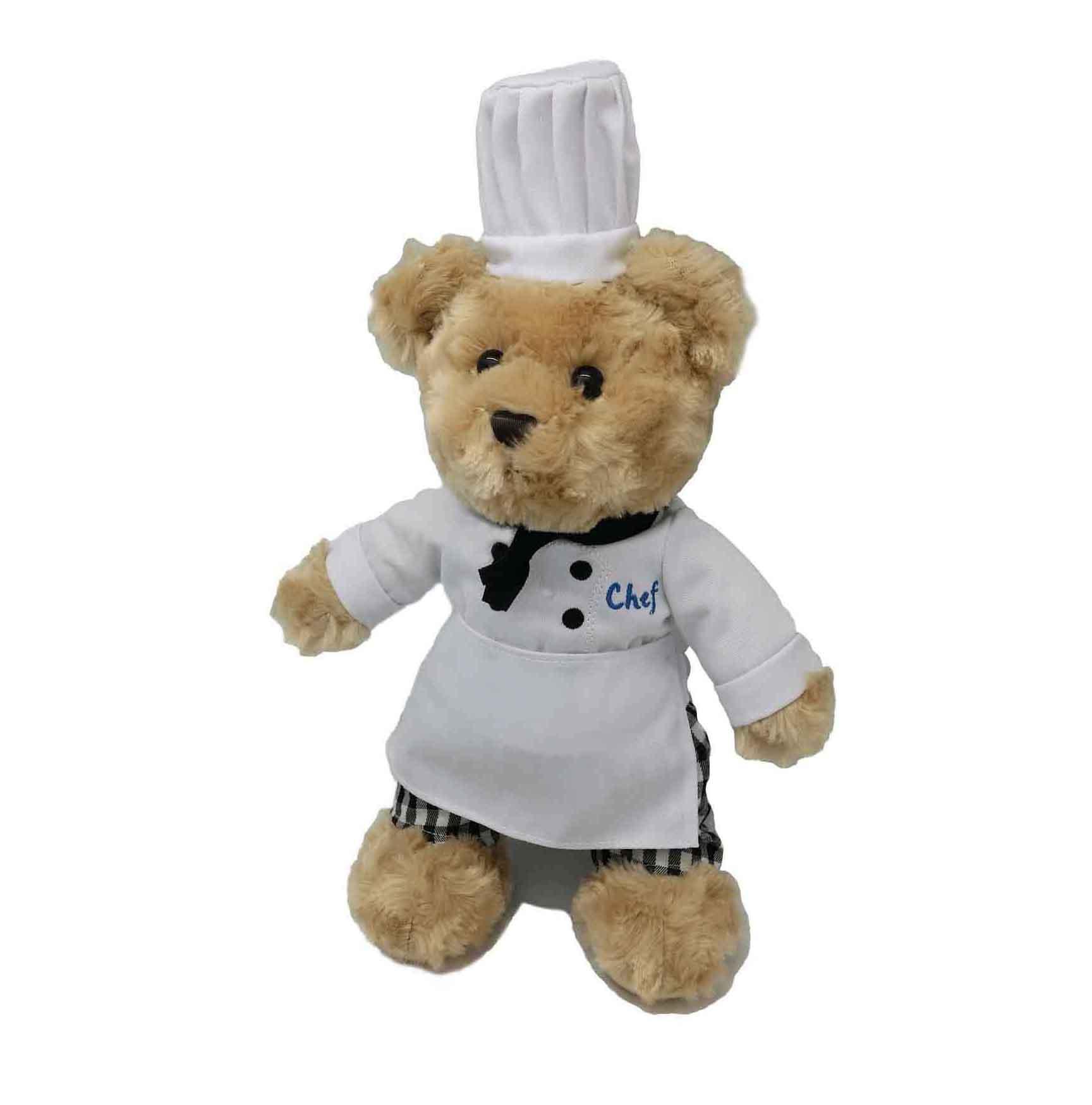 Chef teddy bear soft toy plush toy