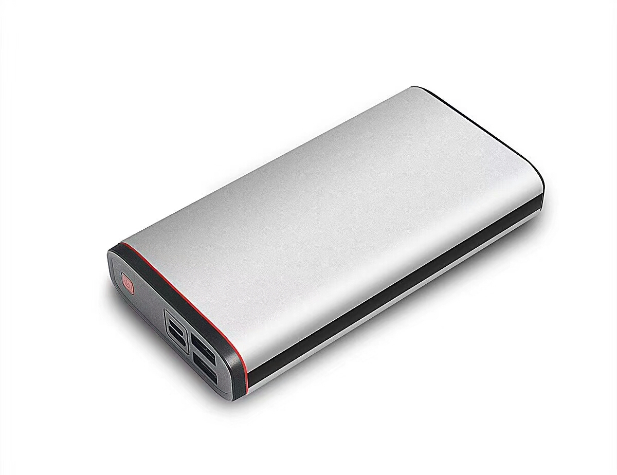 Techplus-20000mAh Aluminum power bank with fast charger PD/QC grey